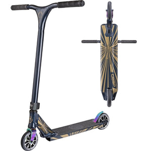 "Crisp Ultima 4.5"" Dark Blue Metallic Neochrome Complete Pro Stunt Scooter"