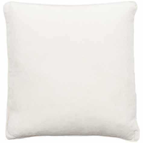 100% Cotton Velvet Cushion w/ Linen Piping