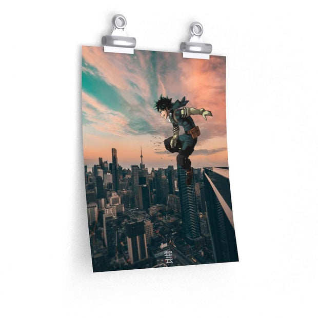 City Hero Deku Poster