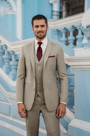 ULTRA SLIM SAND BRUNSWICK SUIT
