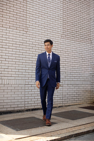 ULTRA SLIM BLUE PERFORMANCE WEDDING SUIT