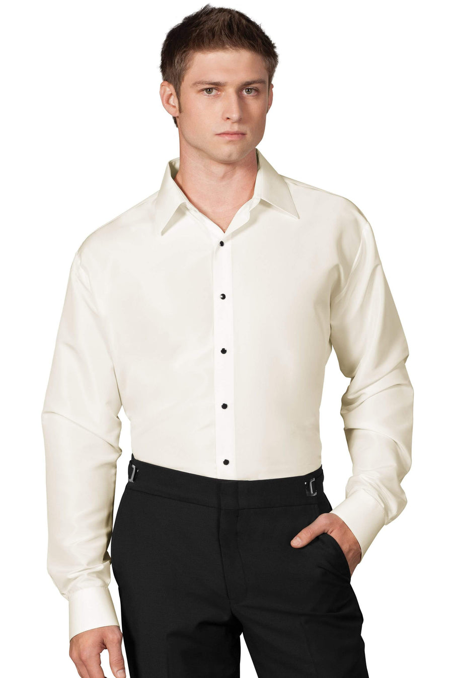 Ivory Slim Fit Microfiber Shirt