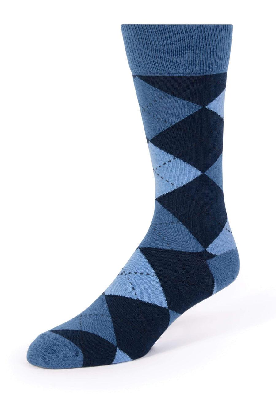 Navy Argyle Men's Dress Socks