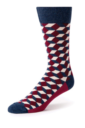 Wine Beeline Optical Men's Dress Socks