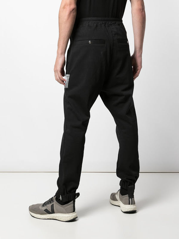 RICK OWENS MEN KNIT TRACK PANTS WITH UFW PATCH