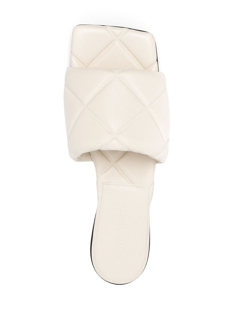 BOTTEGA VENETA WOMEN RUBBER LIDO FLAT SANDALS