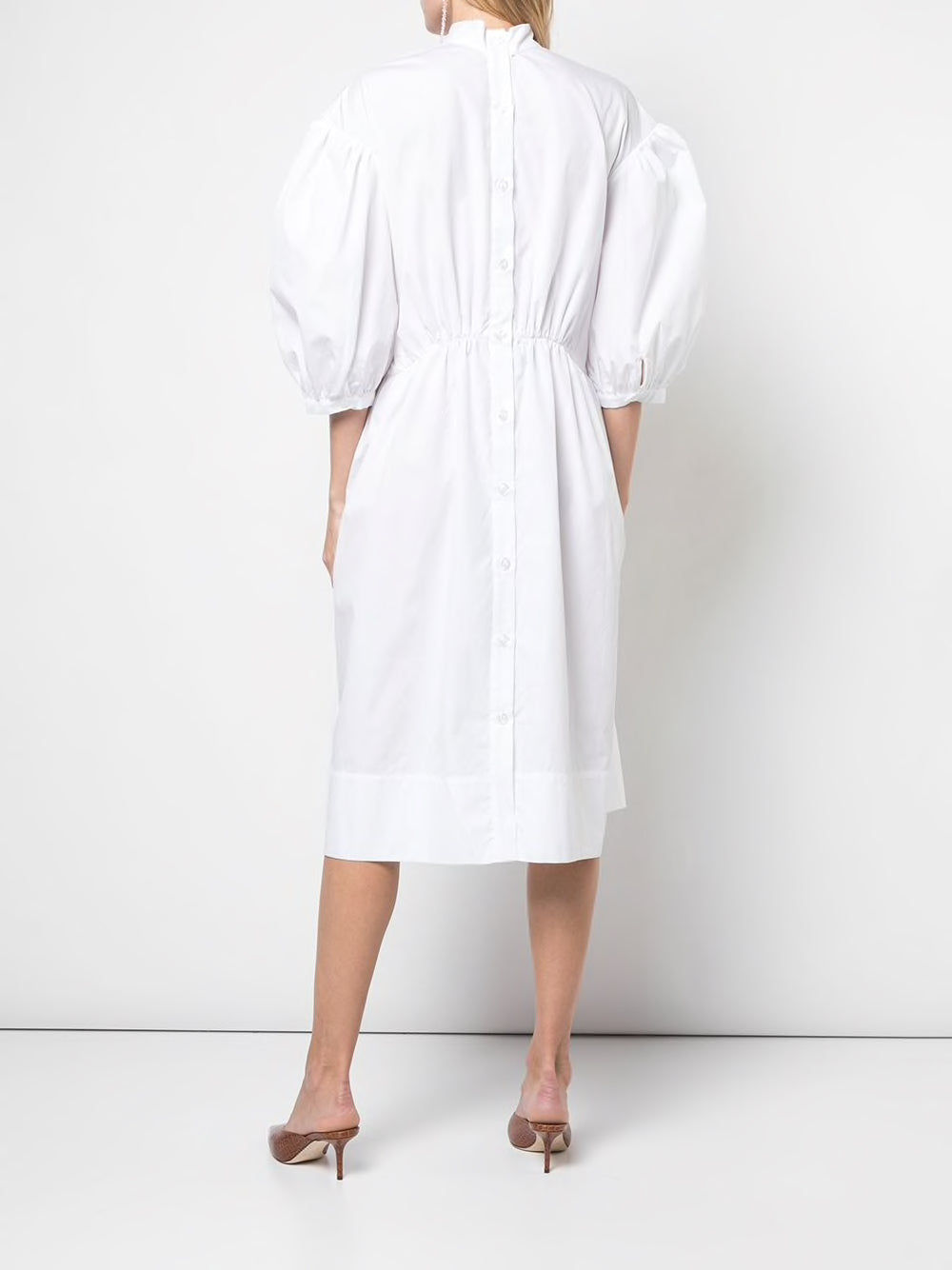 SIMONE ROCHA WOMEN PIN TUCK SMOCK DRESS LONG