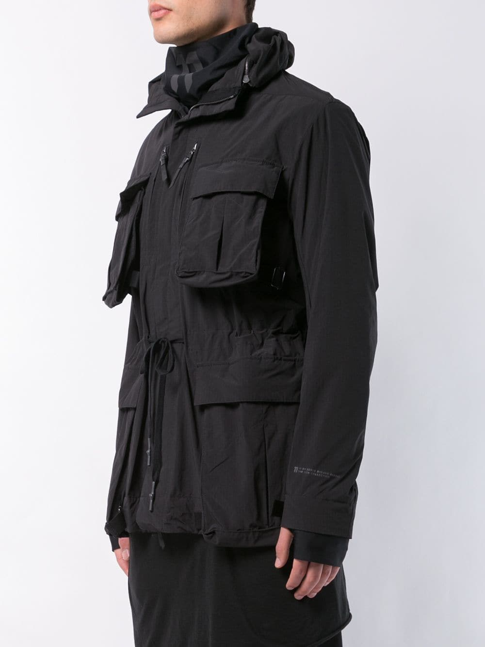 11 BY BORIS BIDJAN SABERI MEN CONVERTIBLE POCKET FIELD JACKET