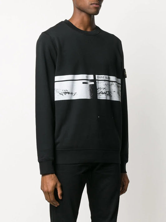 STONE ISLAND MEN PIRNTED SWEATSHIRT