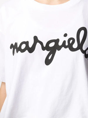 MM6 WOMEN LOGO CROPPED T-SHIRT