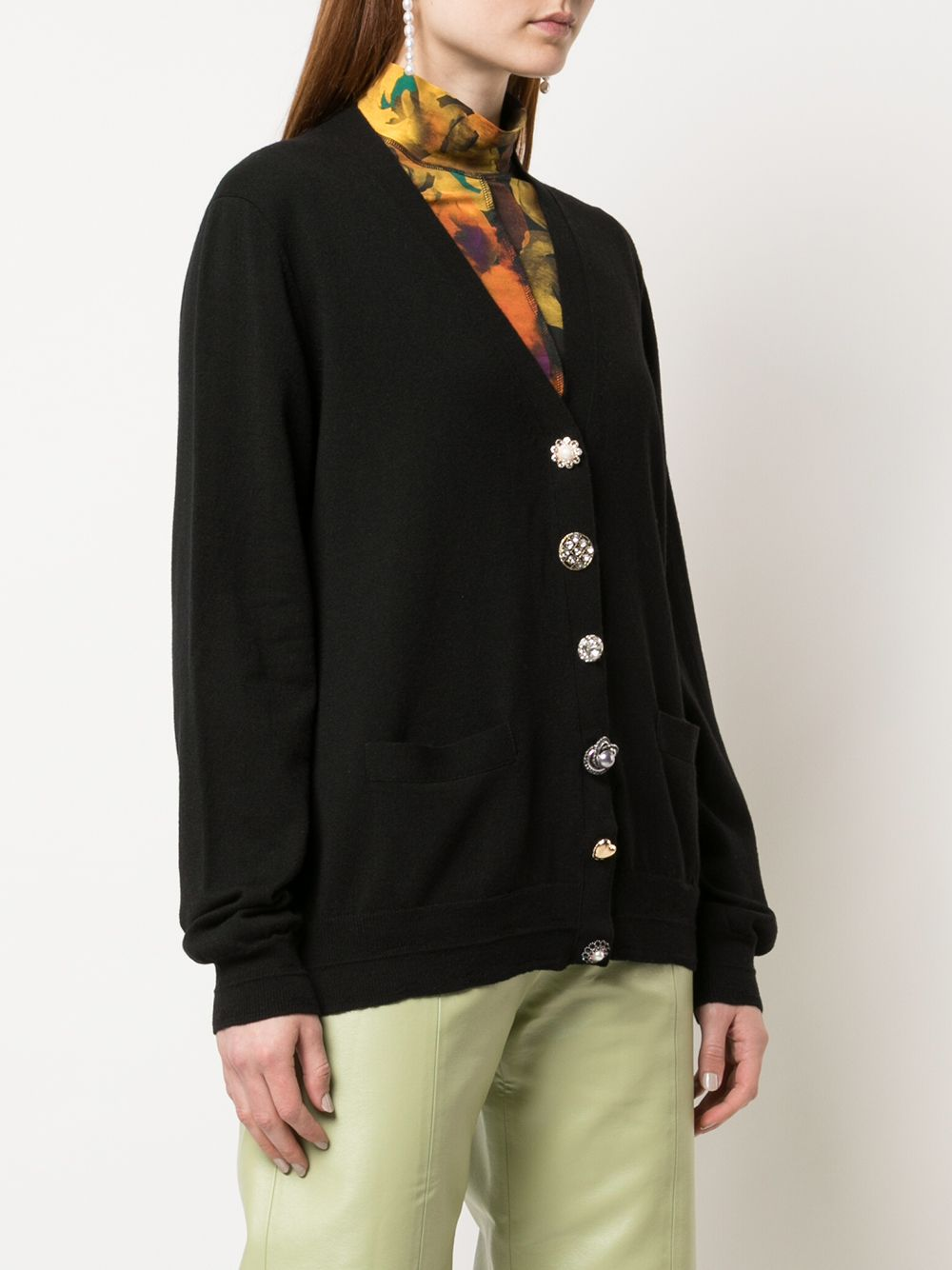 MARC JACOBS WOMEN THE JEWELLED BUTTON CARDIGAN