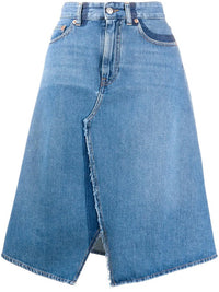 MM6 WOMEN RECONSTRUCTED DENIM SKIRT