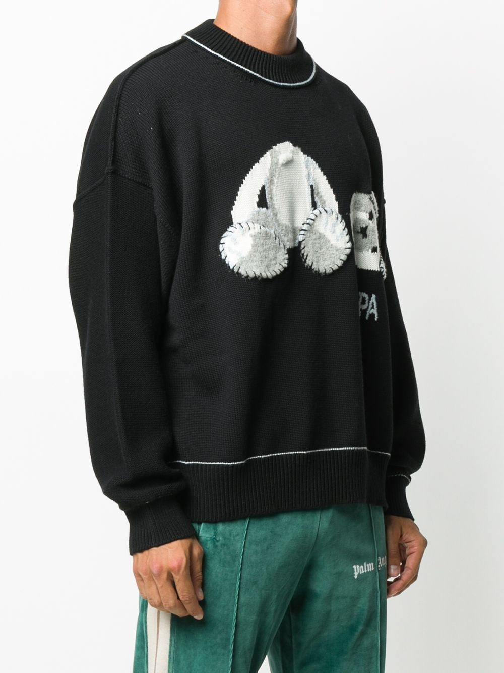 PALM ANGELS MEN ICE BEAR SWEATER