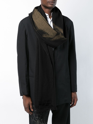YOHJI YAMAMOTO POUR HOMME DISCHARGE HANNYA STOLE SCARF