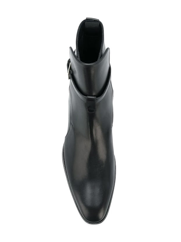 SAINT LAURENT MEN WYATT 30 JODHPUR BOOTS