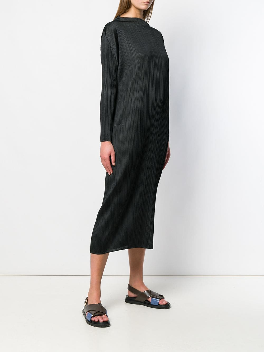 PLEATS PLEASE ISSEY MIYAKE WOMEN LONG SLEEVES DRESS