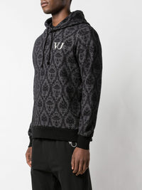 UNDERCOVER X VALENTINO MEN JACQUARD PRINTED HOODIE