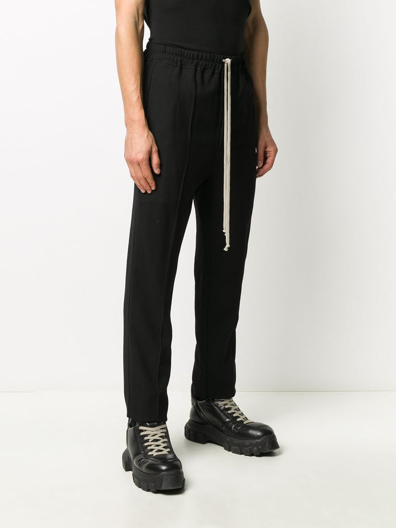 RICK OWENS MEN DRAWSTRING SLIM ASTAIRES LONG TROUSER