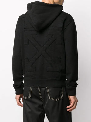 OFF-WHITE MEN ARROW LOGO SLIM HOODIE