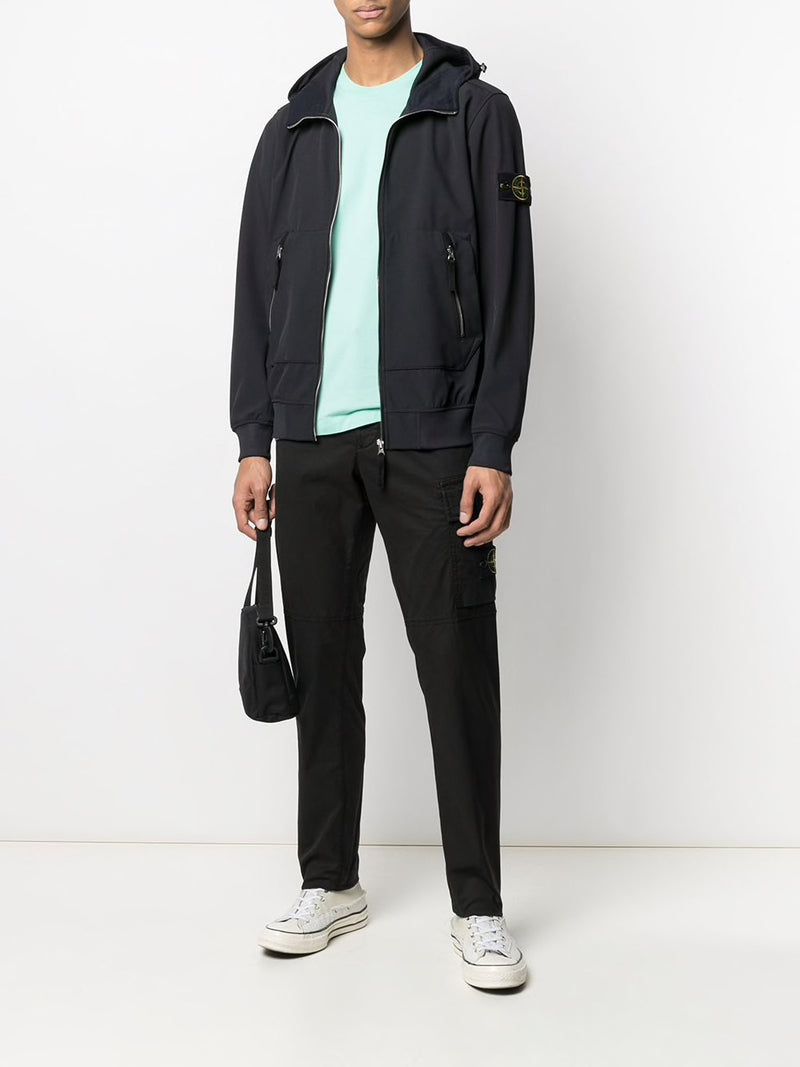 STONE ISLAND MEN LOGO PATCH CARGO PANTS