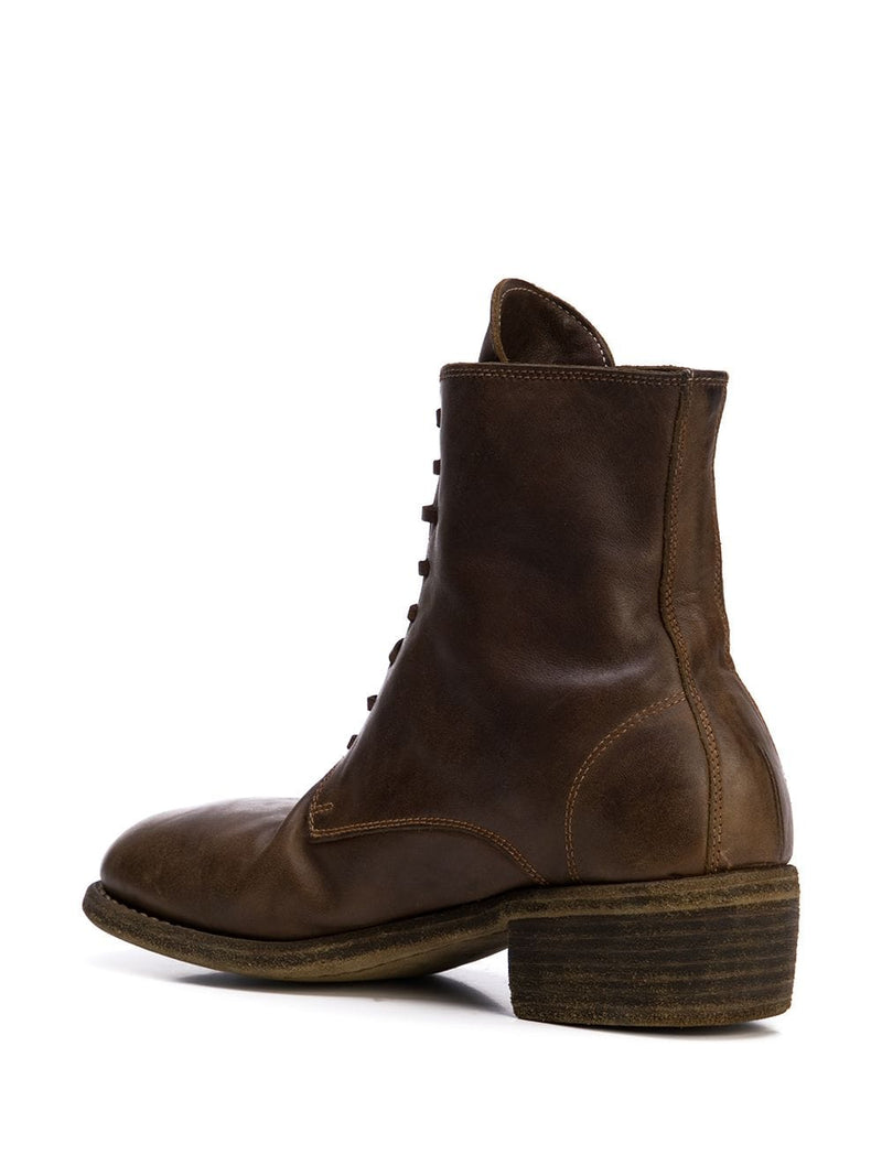 GUIDI WOMEN 795 SOFT HORSE LEATHER COMBAT BOOT CV09T