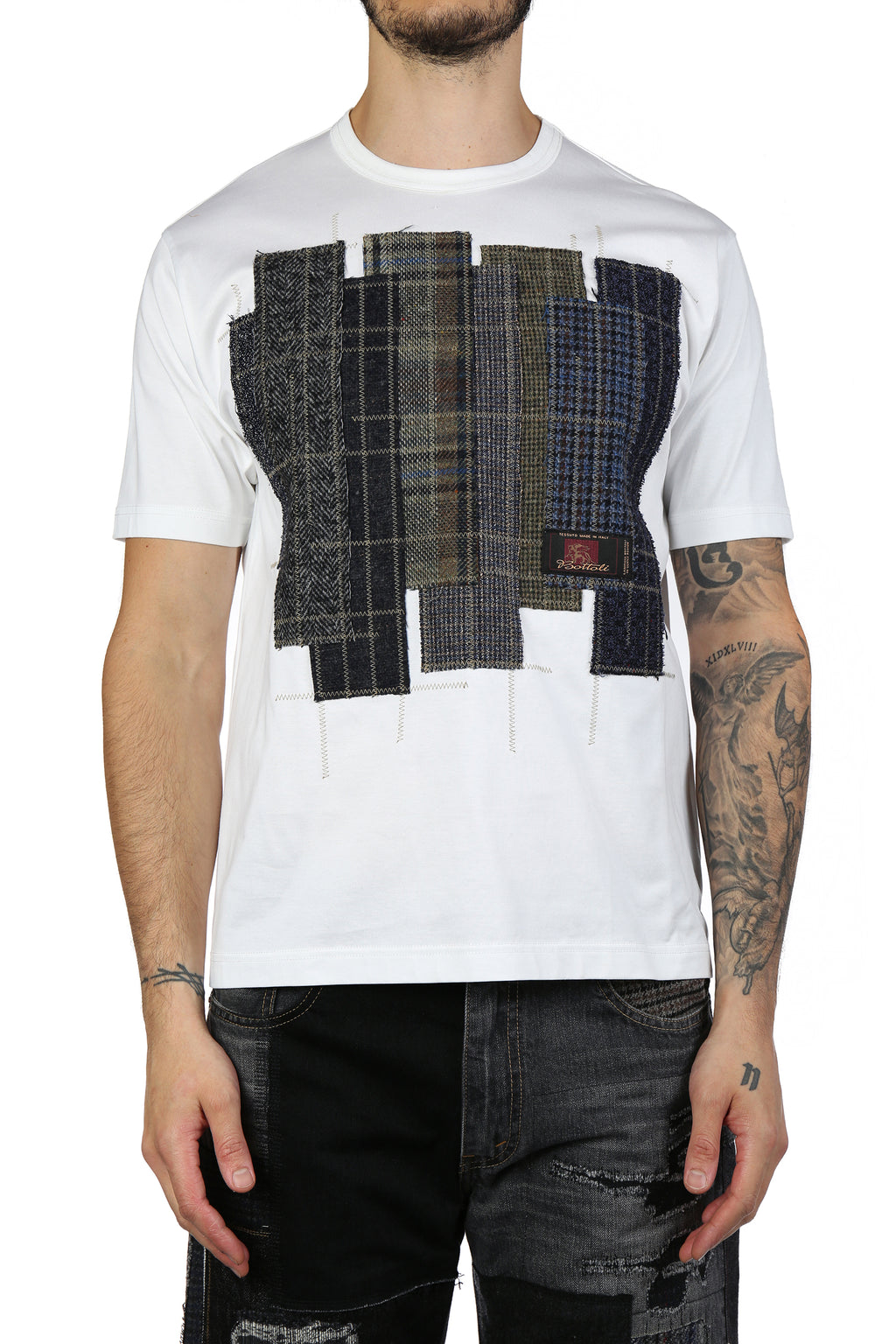 JUNYA WATANABE MEN PATCH WORK T-SHIRT
