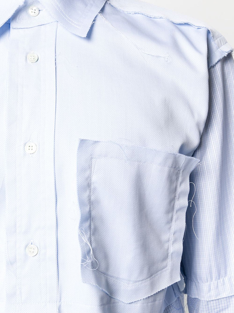COMME DES GARCONS SHIRT MEN MIXED RAW EDGE SHIRT