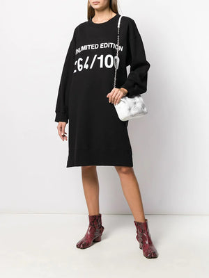 MM6 GRAPHIC PRINTED SWEAT DRESS