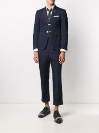 THOM BROWNE MEN BACKSTRAP TROUSERS WITH DOUBLE NEEDLE STITCH IN TYPEWRITER CLOTH