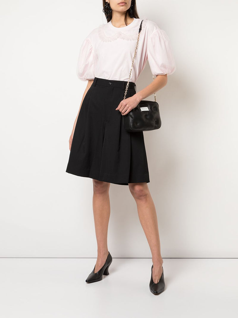 SIMONE ROCHA WOMEN TULLE COLLAR DROP SLEEVE T-SHIRT