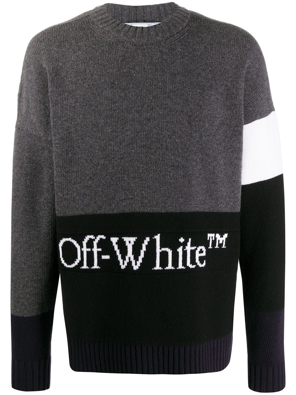OFF-WHITE MEN COLOR BLOCK OFF CREWNECK