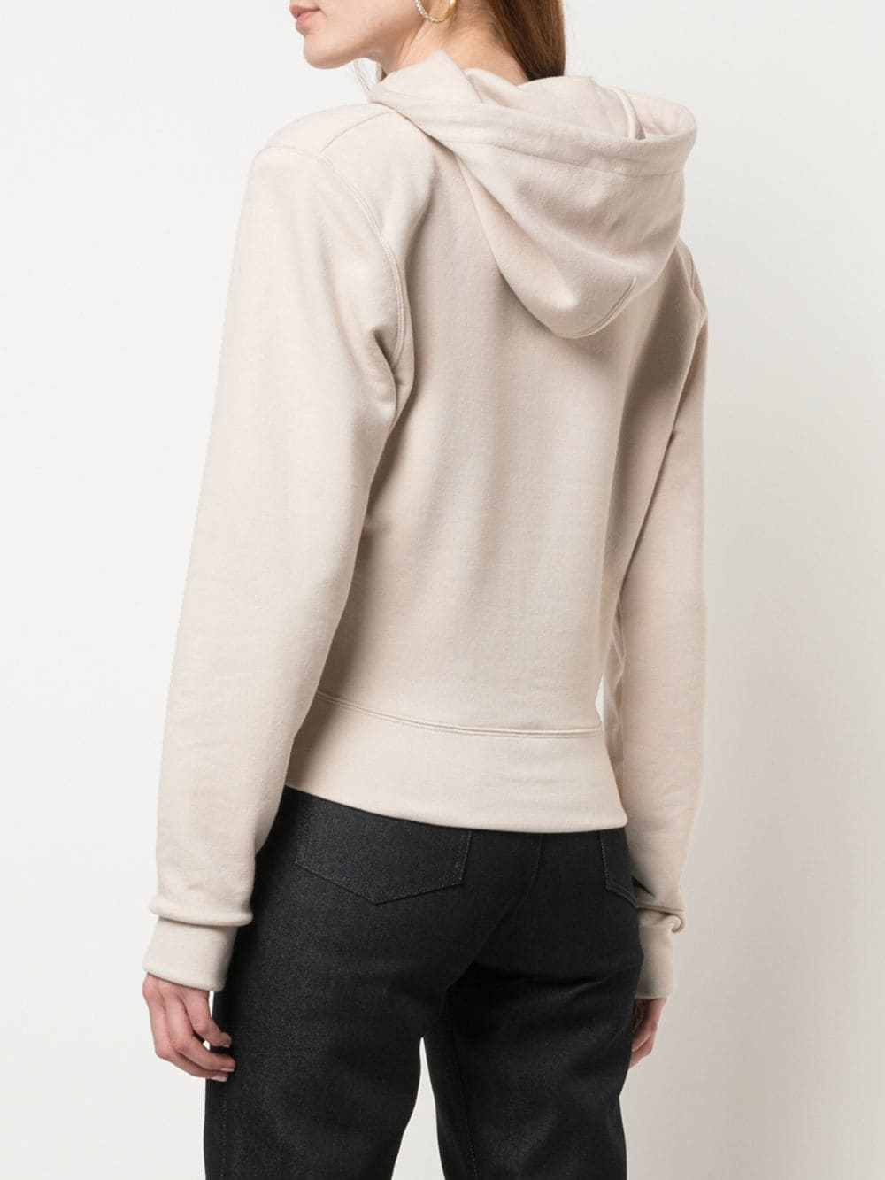 A_PLAN_APPLICATION WOMEN FITTED HOODIE
