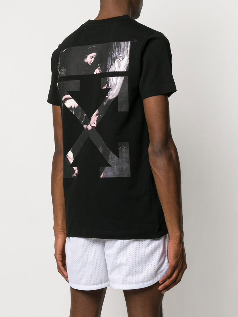 OFF-WHITE MEN CARAVAGGIO ARROW S/S SLIM TEE