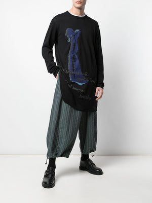 "YOHJI YAMAMOTO POUR HOMME ""I WOULD NOT LEAVE YOU HERE ALONE"" SWEATER"