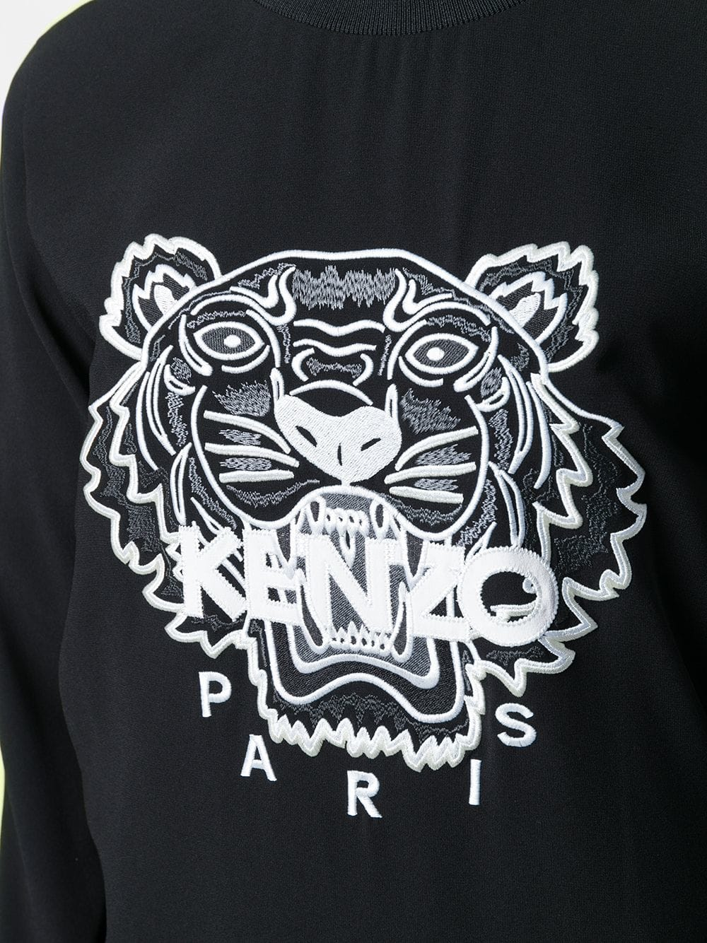 KENZO WOMEN TIGER LOGO EMBROIDERED SWEATSHIRT WITH CONTRAST STRIPE