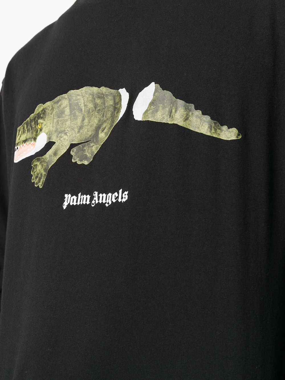 PALM ANGELS MEN CROCO TEE L/S