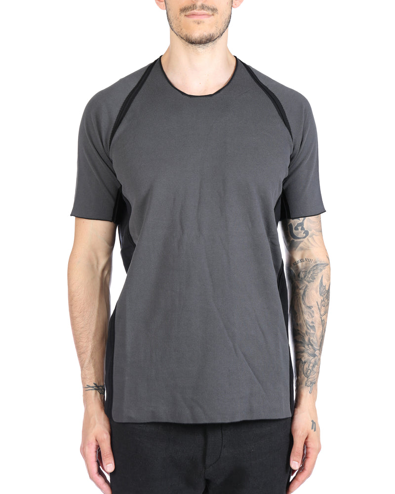 LABEL UNDER CONSTRUCTION MEN ARMPIT DOUBLE LAYER T-SHIRT