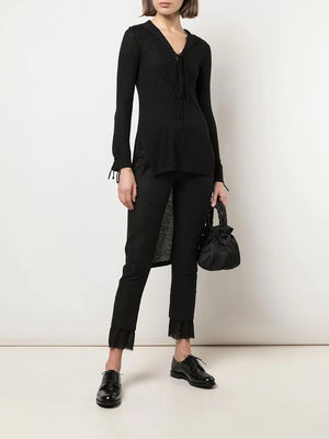 ANN DEMEULEMEESTER WOMEN LACE UP TUNIC