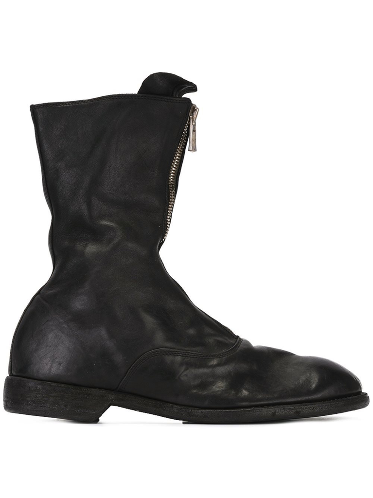 GUIDI MEN 310 FRONT ZIP ARMY BOOT