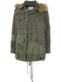 GREG LAUREN MEN TENT SCRAP WORK SATIN PARKA