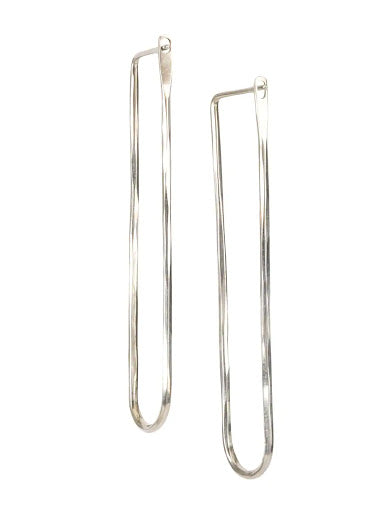 WERKSTATT MUNCHEN EARRINGS LOOP HAMMERED FINE M4516