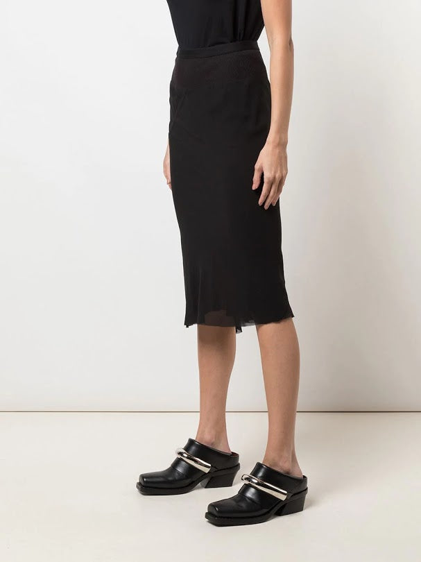 RICK OWENS WOMEN KNEE LENGTH SKIRT
