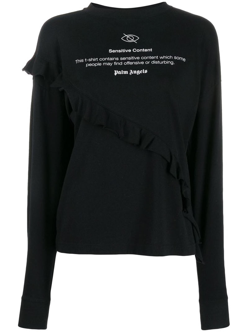 PALM ANGELS WOMEN SENSITIVE CONTENT ROUCHES LONG SLEEVE