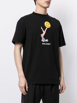 PALM ANGELS MEN JUGGLER PIN UP TEE