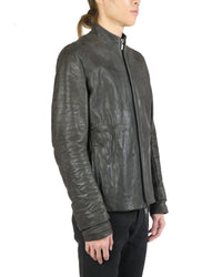 LAYER-0 MEN ZIP UP V. C. H LEATHER JACKET