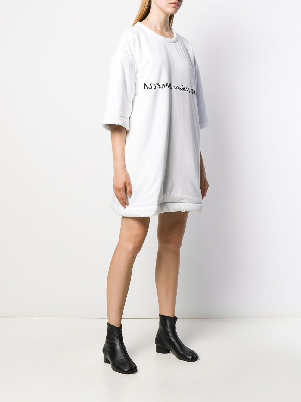 MM6 UNISEX PADDED MAISON MARGIELA LOGO SHORT SLEEVE TEE