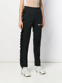 PALM ANGELS WOMEN ROUCHES TRACK PANTS