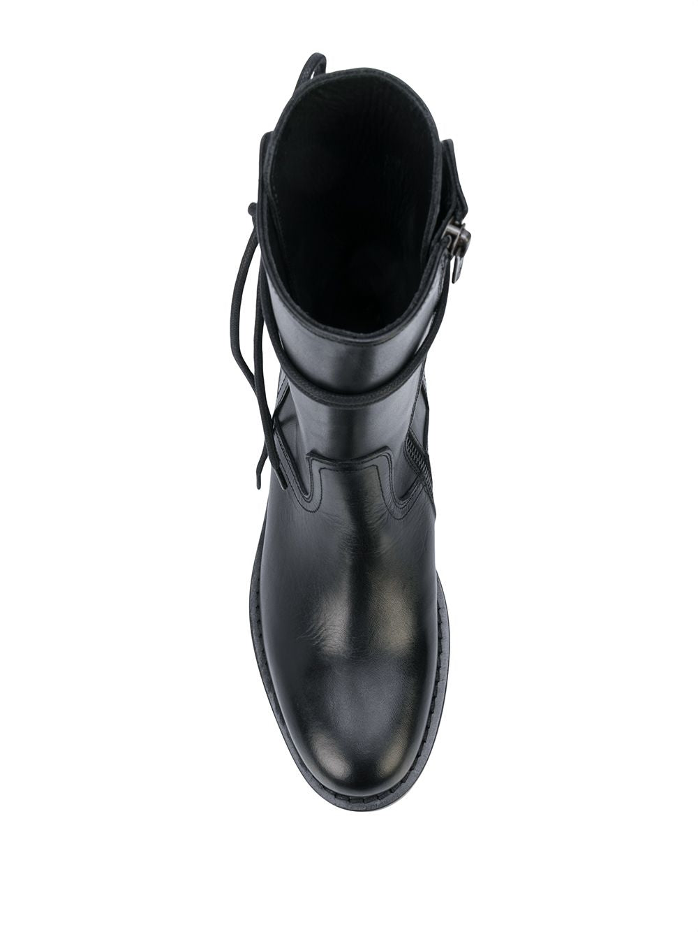 ANN DEMEULEMEESTER WOMEN CLASSIC BACK LACE UP BOOTS