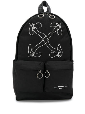 OFF WHITE ABSTRACT ARROWS BACKPACK