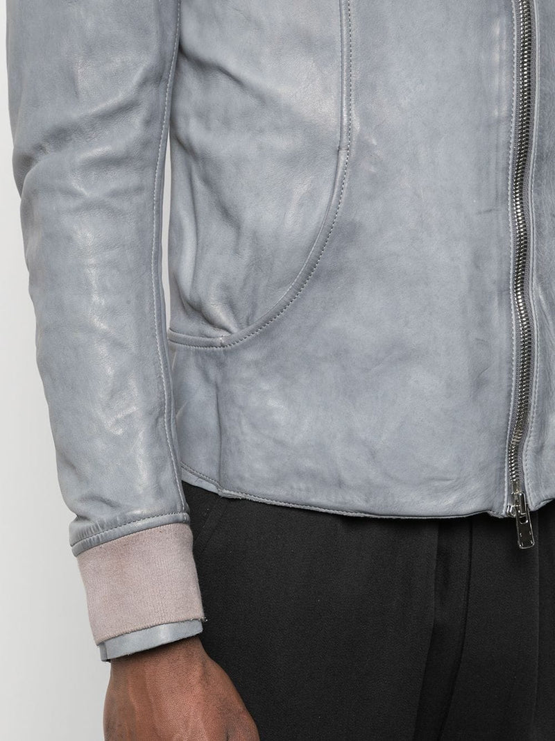 GUIDI X LAYER-0 AVM MEN AVIATOR LEATHER JACKET